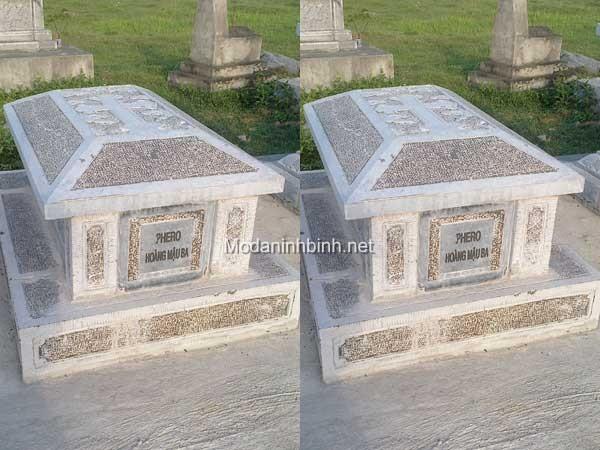 Mộ đá công giáo NB 015