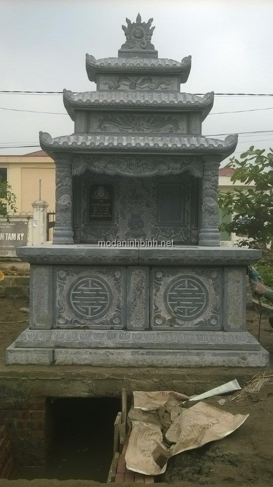 Lắp mộ đá đôi tại Huyện Kim Thành, Hải Dương