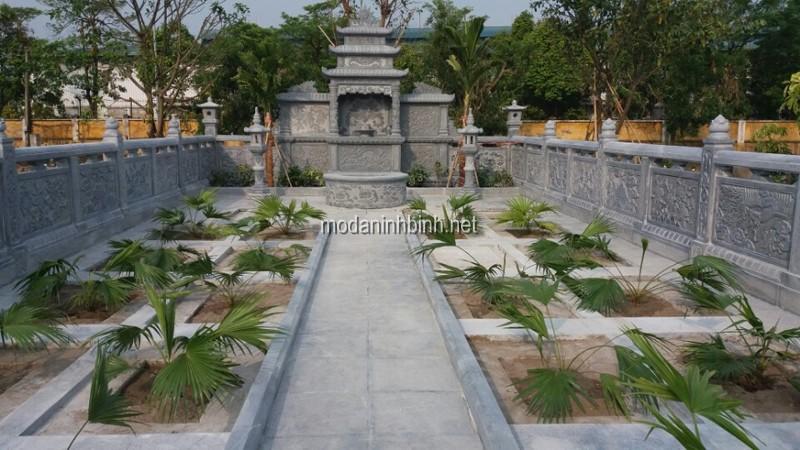 Lắp đặt khu lăng mộ đá tại Hòa Xá Nam Định